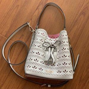 Kate Spade White Bucket Crossbody Bag